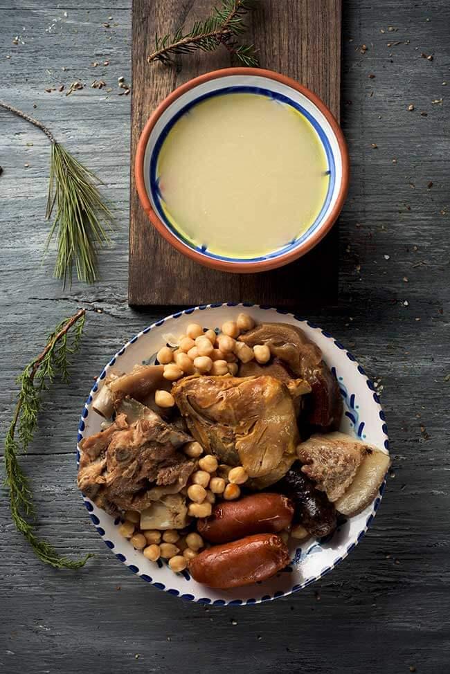 cocido madrileno: comida tipica madrid