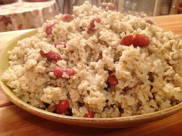 arroz y guisantes jamaica