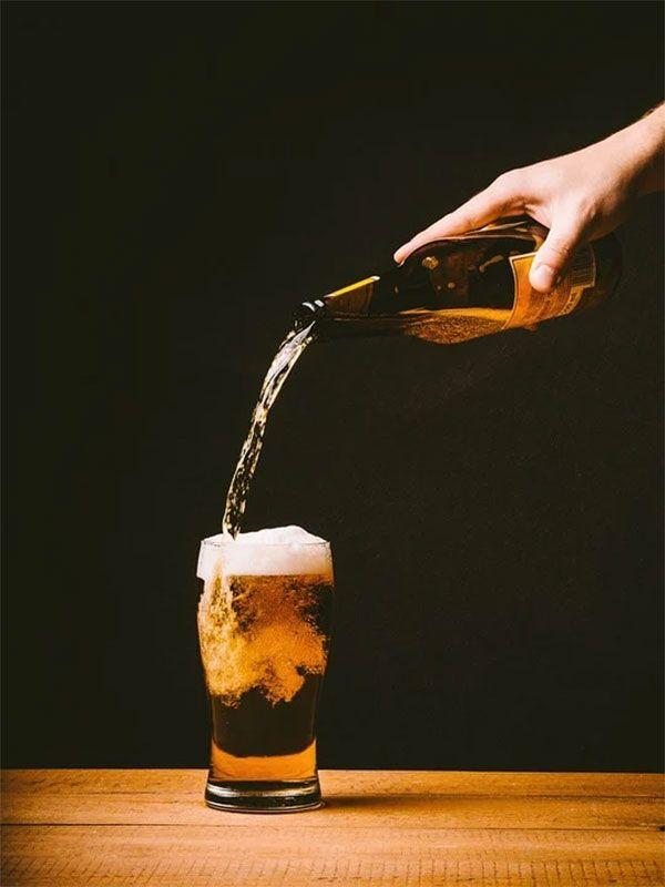 Cerveza para los champiñones