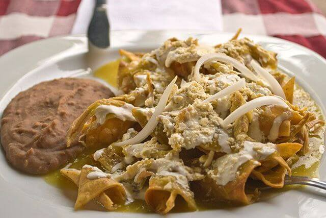 comida mexicana chilaquiles