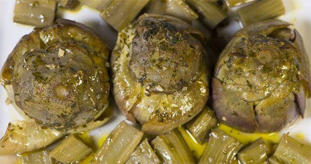 qué comer en roma: alcachofas a la romana