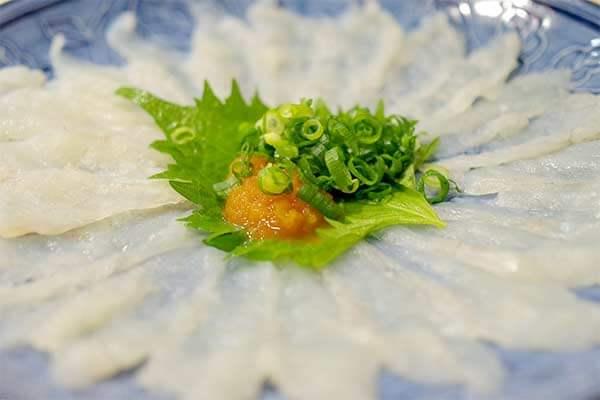 Comida típica japonesa: Fugu o pez globo