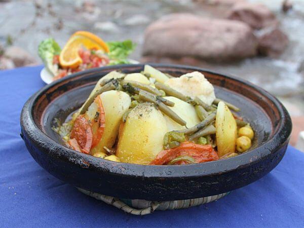 Tajín marroquí de pescado