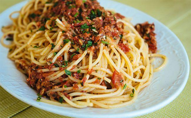 Espaguetis Con Erizos De Mar